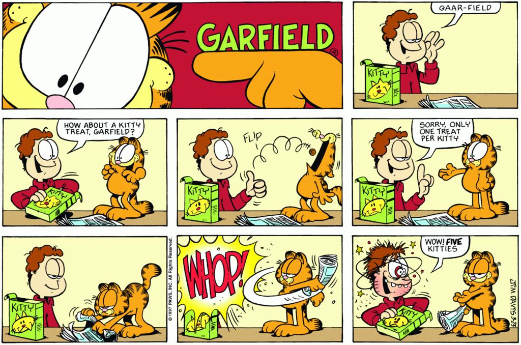 Garfield Lasagna Google Search Garfield Comics Comic Strips Garfield
