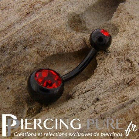 https://piercing-pure.fr/p/249-piercing-nombril-blackline-cristaux-rouges.html #piercing #piercingstrass #piercingpierre #piercingnombril #navelpiercing #piercingnoir #piercingrouge
