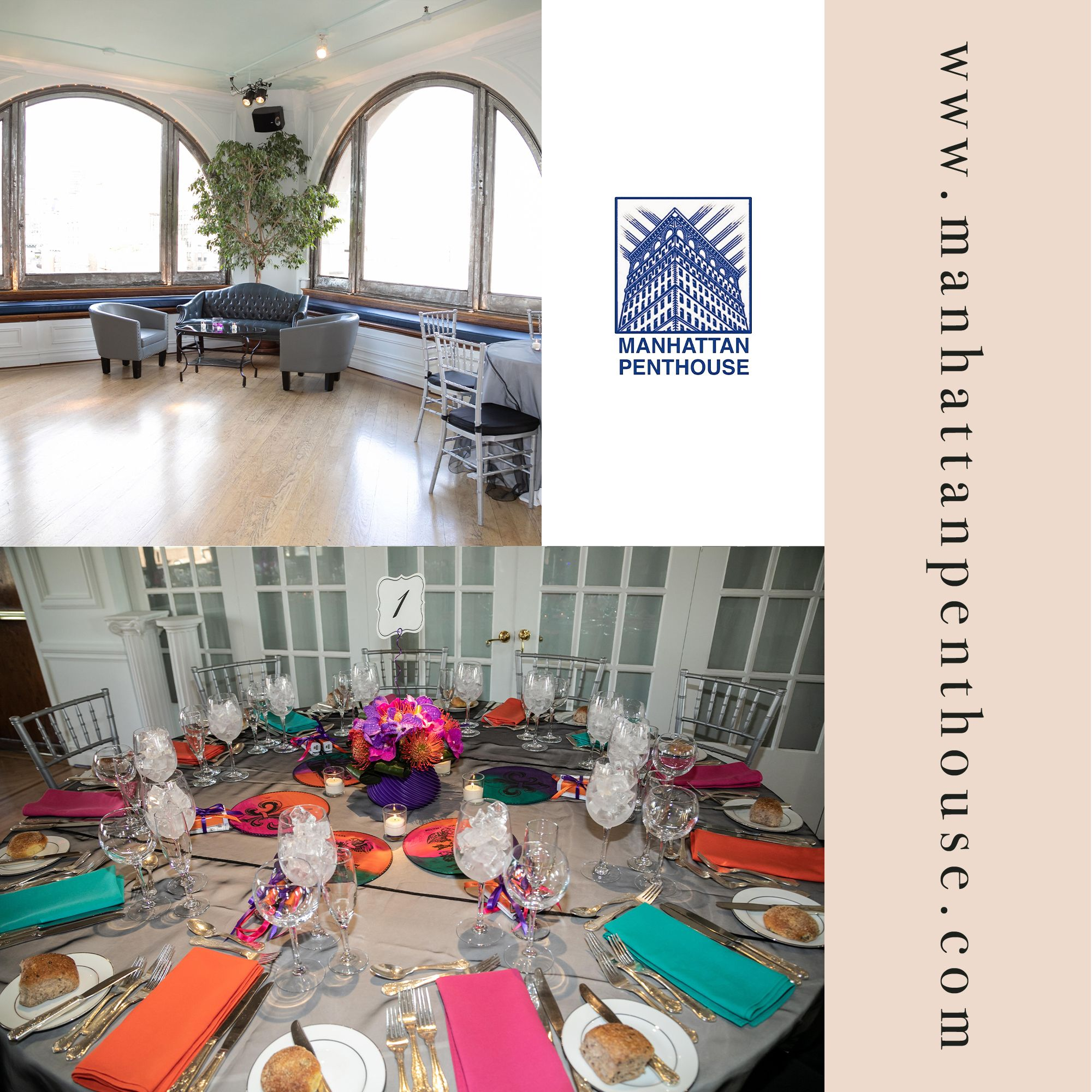 Transform Our Entire Venue Into Your Own Corner Of Wedding Heaven For Your Momentous Day As You Get Ready To Make Your Manhattan Penthouse Venues Party Venues