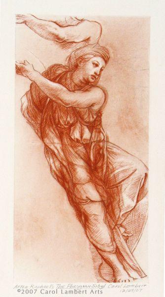 Master Copy of Raphael's Phrygian Sibyl - Art by Carol Lambert