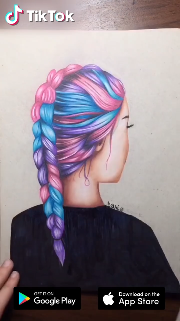 Colorful Hairstyles Download Tiktok To Find More Funny Ideas Life S Moving Fast So Make Every Second Count Dra How To Draw Hair Hair Styles Download Hair