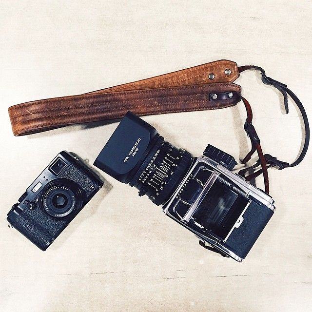 3034681514 Our Leather Presidio strap in antique cognac is now BFFs with  @josemarigago's Hasselblad camera. ONA bags - camera strap.