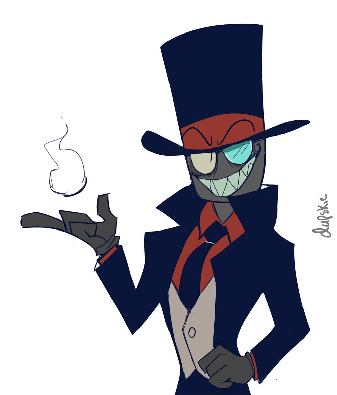 Black Hat Villanos Anime Cartoon Fan Character Design Und