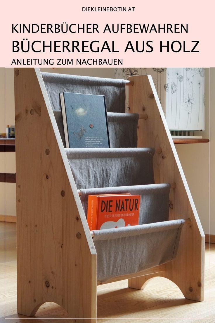 Kinderbuch & DIY für ein einfaches Holzregal (mit Bildern