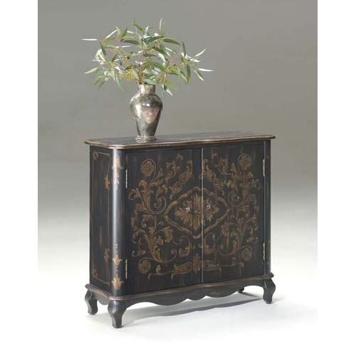 Artists Originals European Black Console Chest Butler Specialty Company Chests Accent Cabi Mobilier De Salon