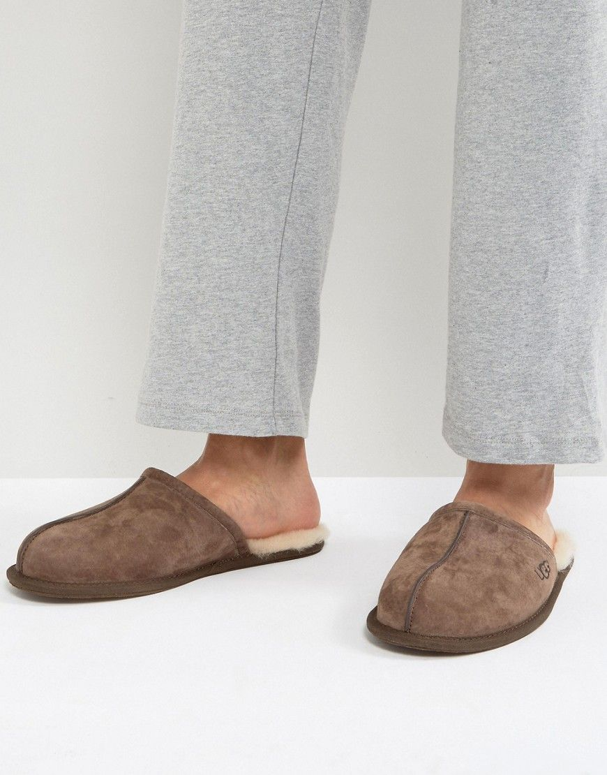 d4a68b7f21a UGG SCUFF SUEDE MULE SLIPPERS IN BROWN - BROWN. #ugg #shoes #   Ugg ...