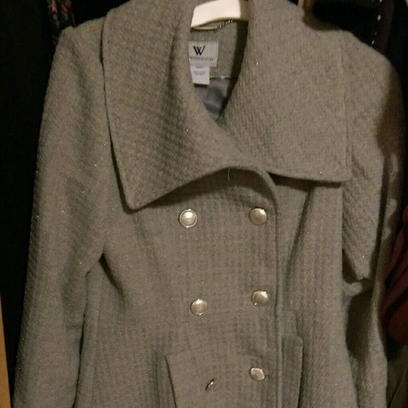 Adorable Gray Worthington Jacket Super cute barely worn. I bought for a trip and now never use. From Burlington Coat Factory Worn twice but no signs of wear. Make me an offer! Worthington Jackets & Coats