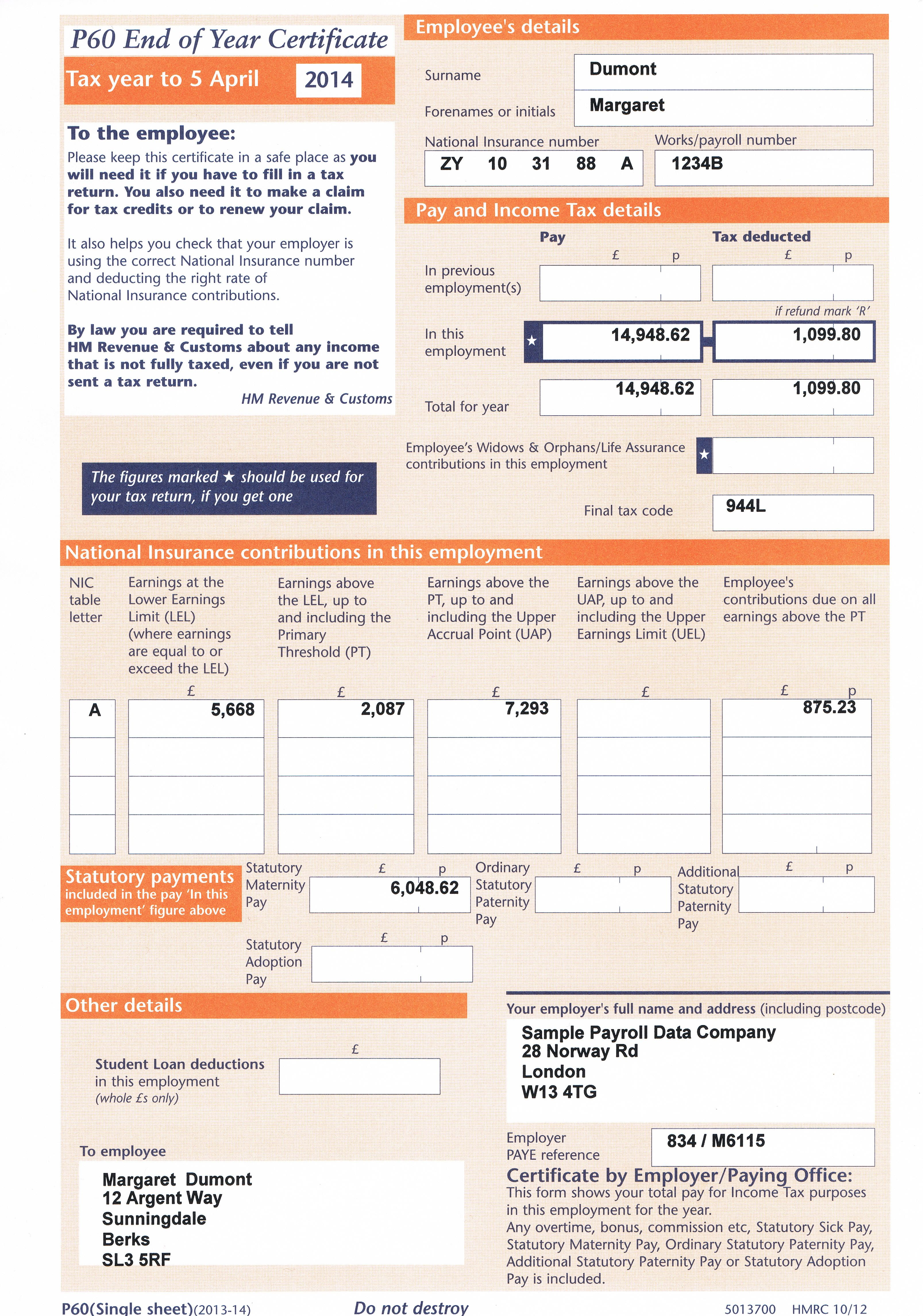 Order your lost and damage payslips online from