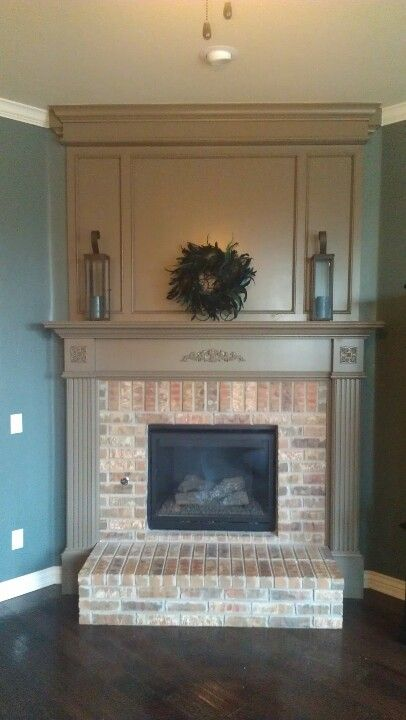Molding Above Fireplace Is Nice Touch Of Character Home