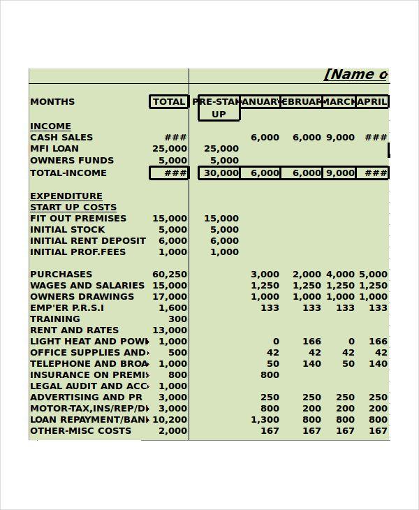 Monthly Cash Flow Template Excel , Cash Budget Template , cash - monthly financial report excel template