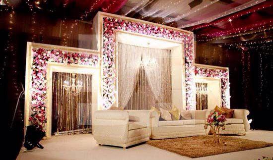 Elegant Stage Set Up Decorations Stage Background For