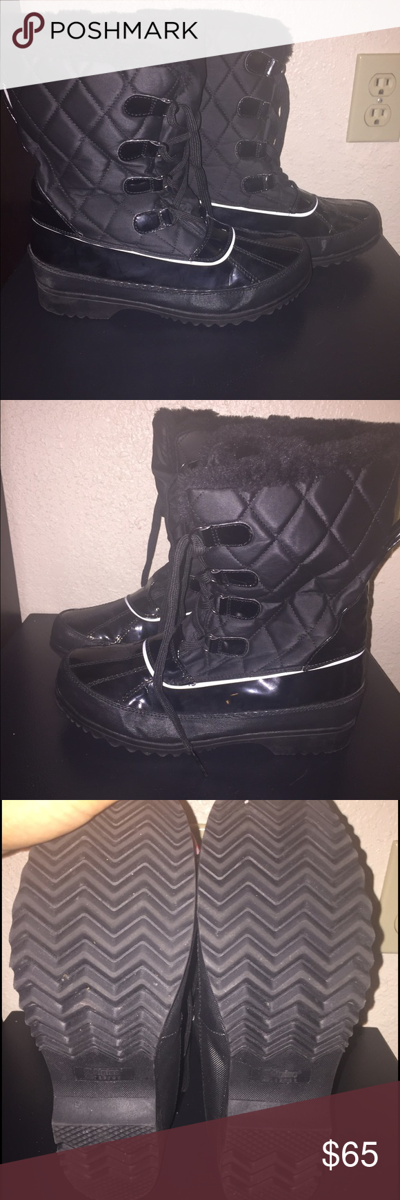 Winter boots Alpine design winter boots pre-owned. Size 9 women's Shoes Winter & Rain Boots