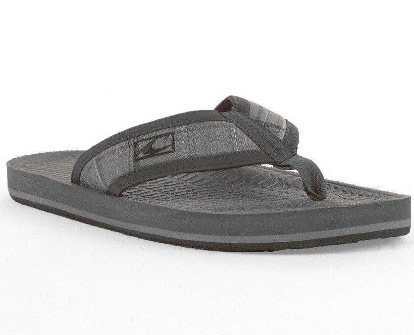 b752a29f08e3 O Neill Men Koosh Patterns 2 Gray Black Arch Support Sandals Flip-Flops   ONeill  FlipFlops