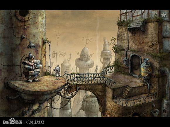 Machinarium Art Scene Steampunk Amanita Design Best Hidden Object Games Landscape Artwork