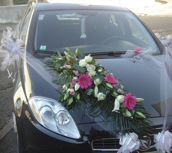 Decoration voiture mariage floralys 01 floralys artisan fleuriste bourgogne saone et loire 71 le - Fleuriste decoration voiture mariage ...