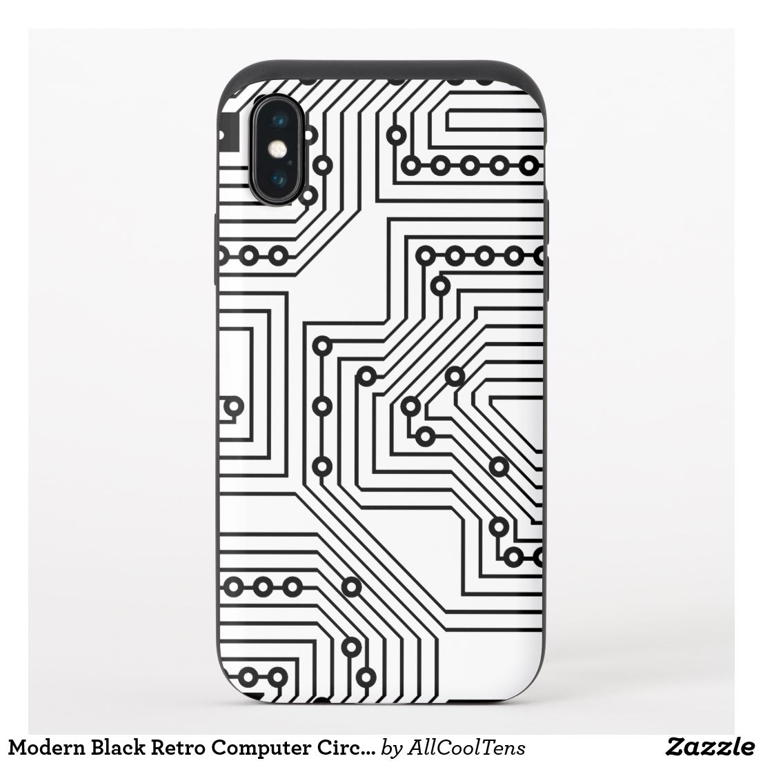 modern black retro computer circuit board pattern uncommon