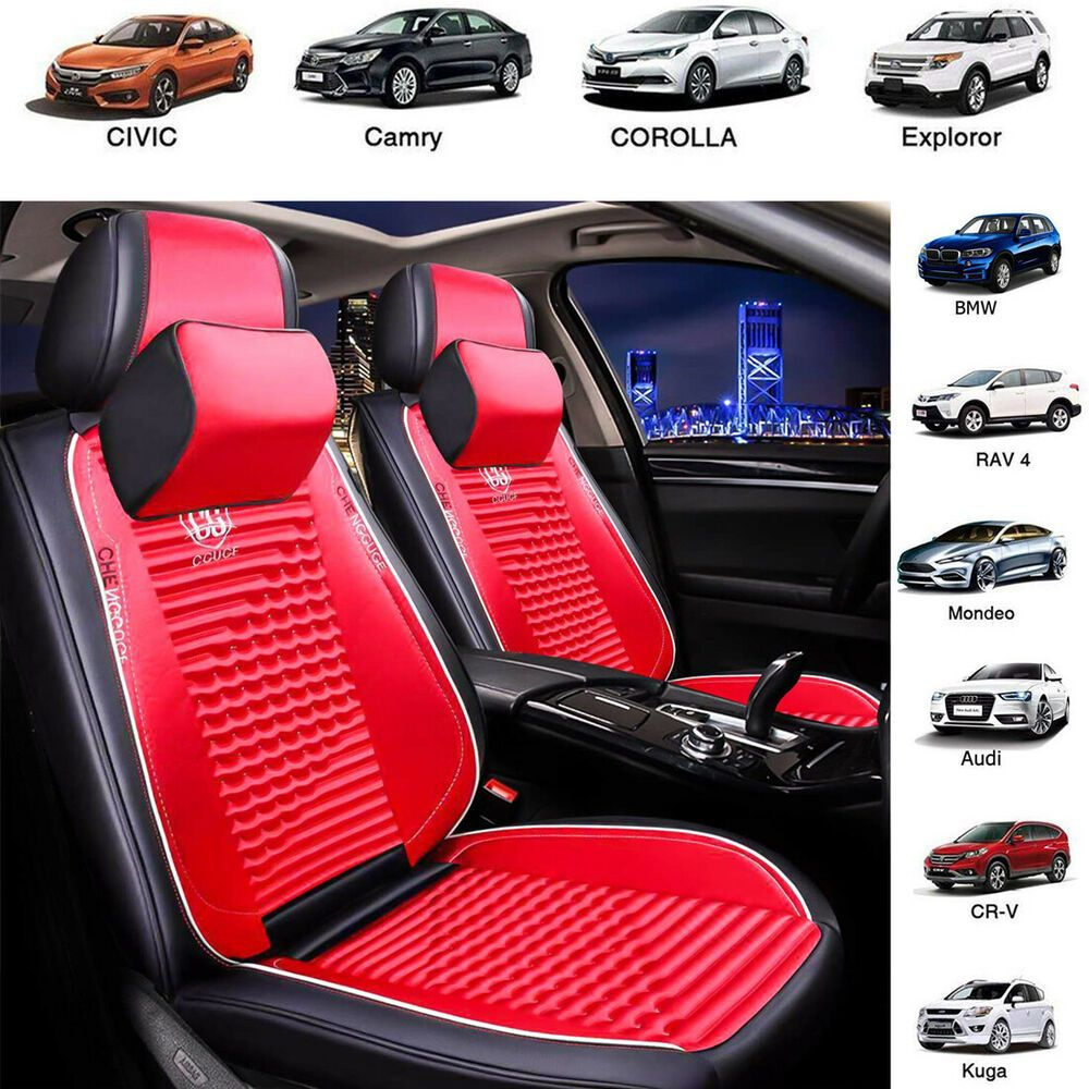 red seat covers ebay