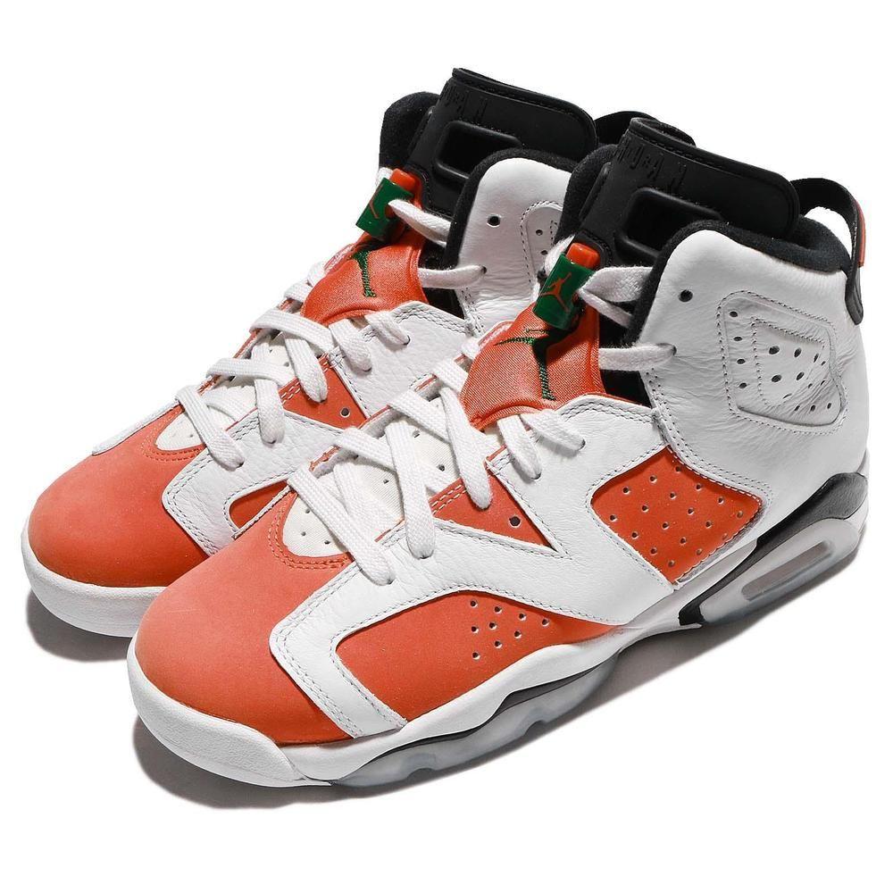 016ff65d531d76 Nike Air Jordan 6 Retro BG Like Mike Gatorade White Orange Green GS 384665- 145  AirJordan  Jordan
