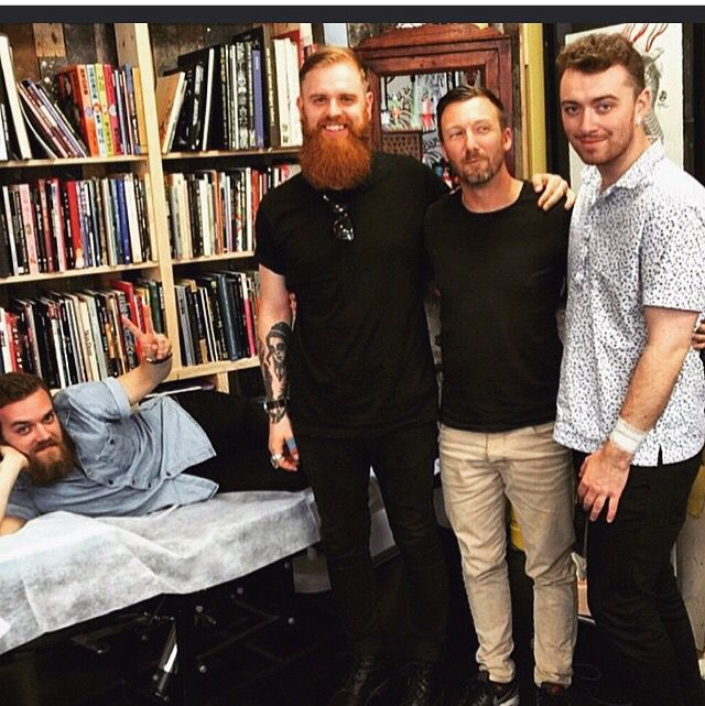 Sam Smith and crew getting tattoos!⚓️