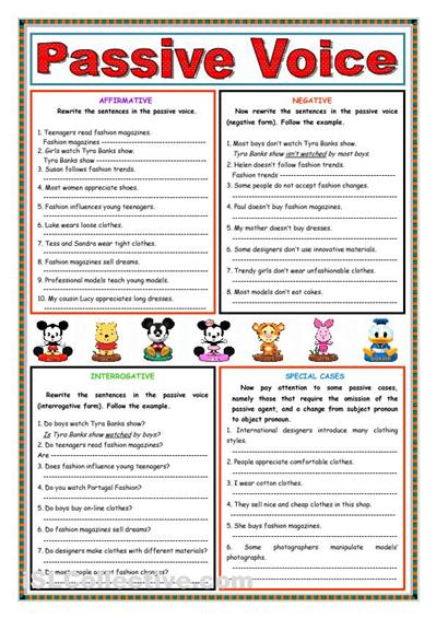 Passive voice (Present Simple) worksheet - Free ESL printable ...