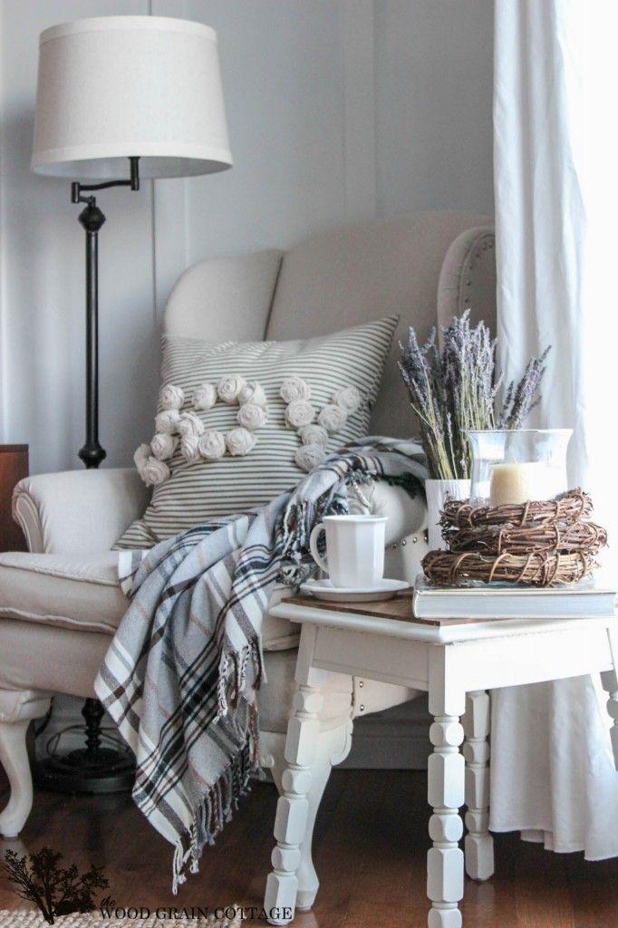 Living Room Reading Corner The Wood Grain Cottage Cottage
