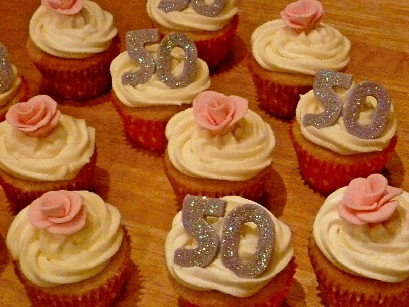 50th Birthday Cupcakes With Images 50th Birthday Cupcakes