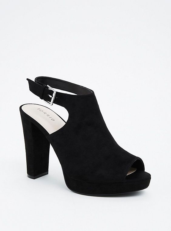 069b49c9d6c Plus Size Covered Platform Peep Toe Heels (Wide Width)