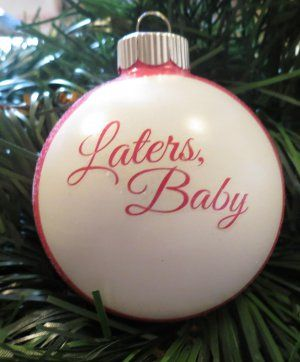 Fifty Shades of Grey Laters Baby Christmas Tree Ornament