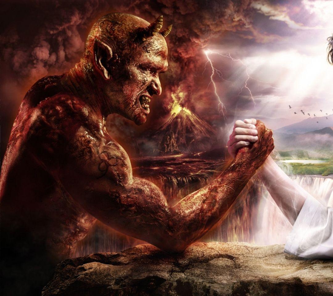 Lucifer Lucifer: Devil Arm Fantasy Art Jesus