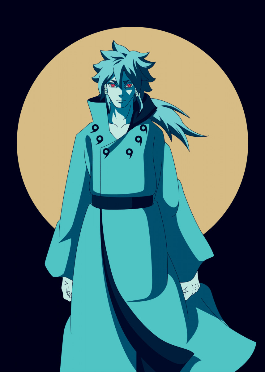 Indra Otsutsuki Metal Poster Print Al Art Displate In 2021 Poster Prints Naruto Art Naruto Images