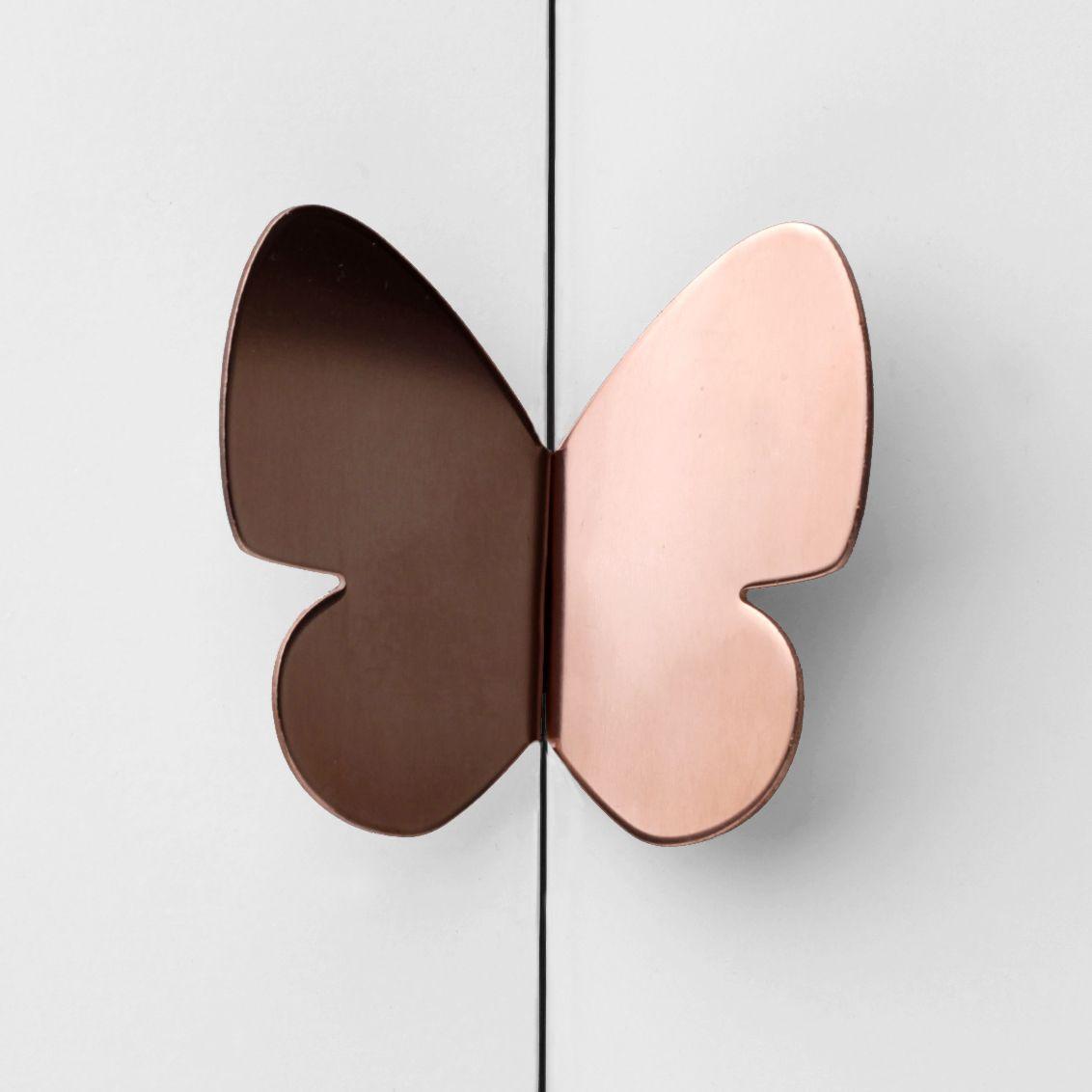 Butterfly Door Handle In Copper Rose Gold Color Craze
