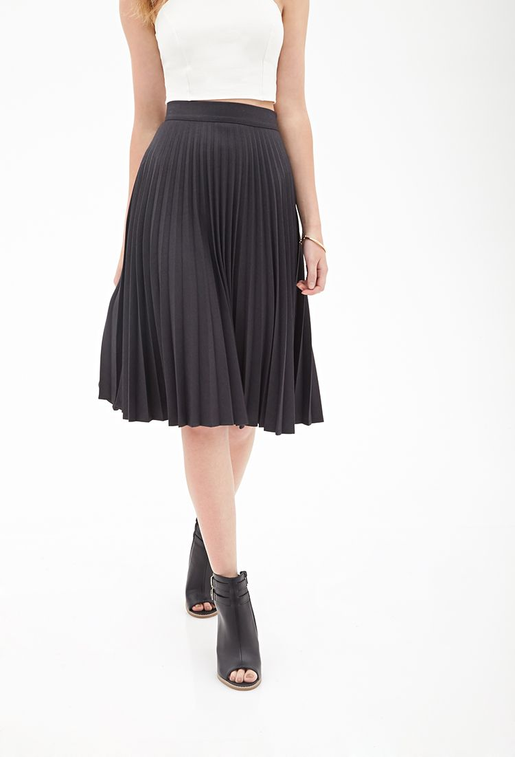 118f17f32f Accordion Pleated A-Line Skirt | FOREVER21 - 2000083394 | Style and ...