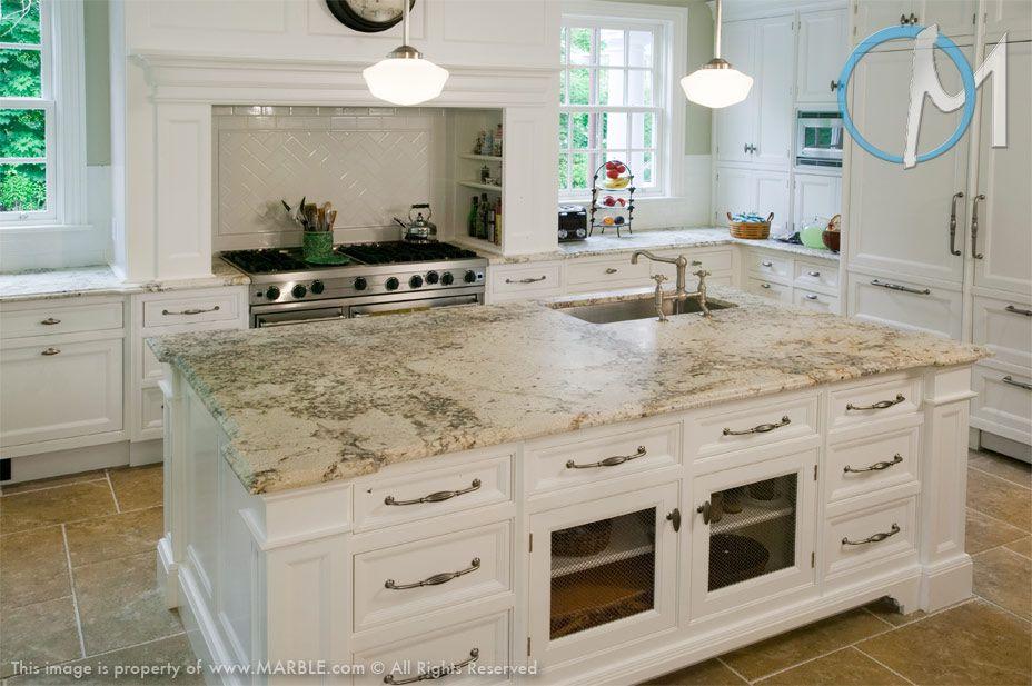Bianco Romano Granite White Cabinets