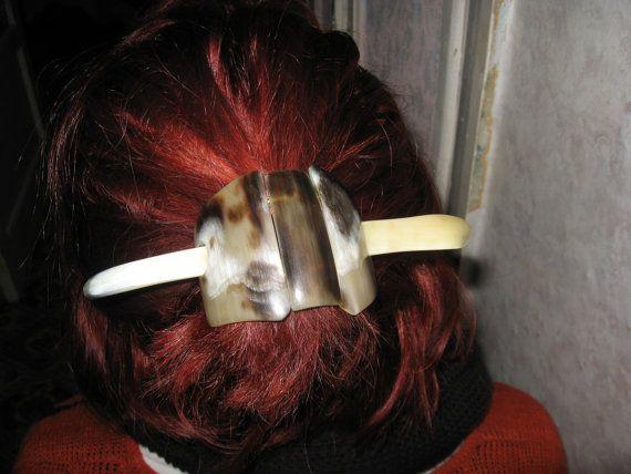 Заколка для волос из рогов быка. Длина 16 см. от VIRTTARHAR