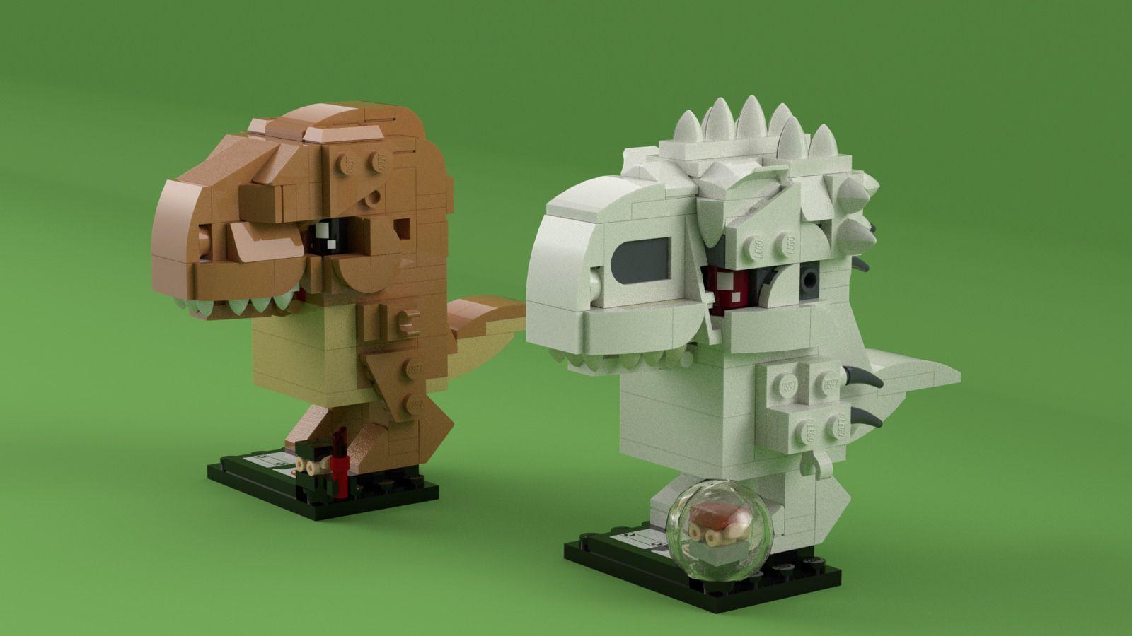LDD] BrickHeadz Jurassic Park/World: Rexy & Indominus Rex