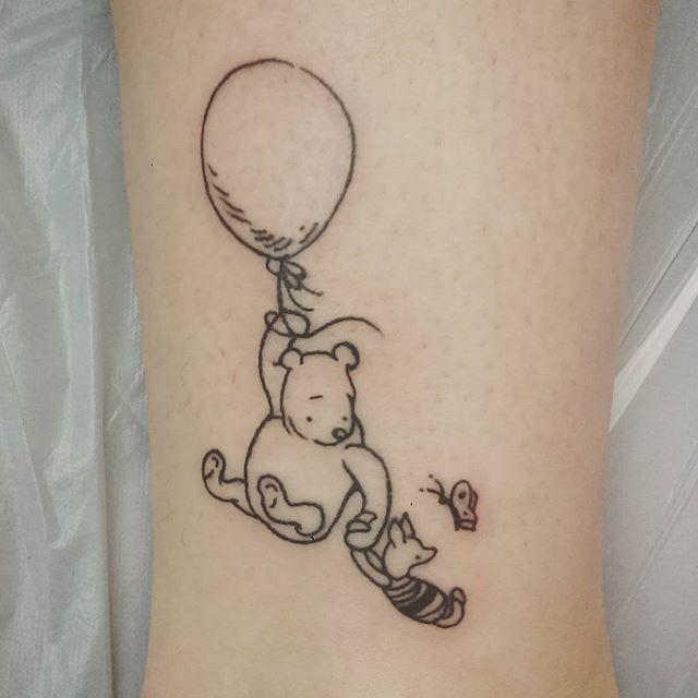 winnie the pooh tattoo | Winnie the pooh tattoos, Friend tattoos ...