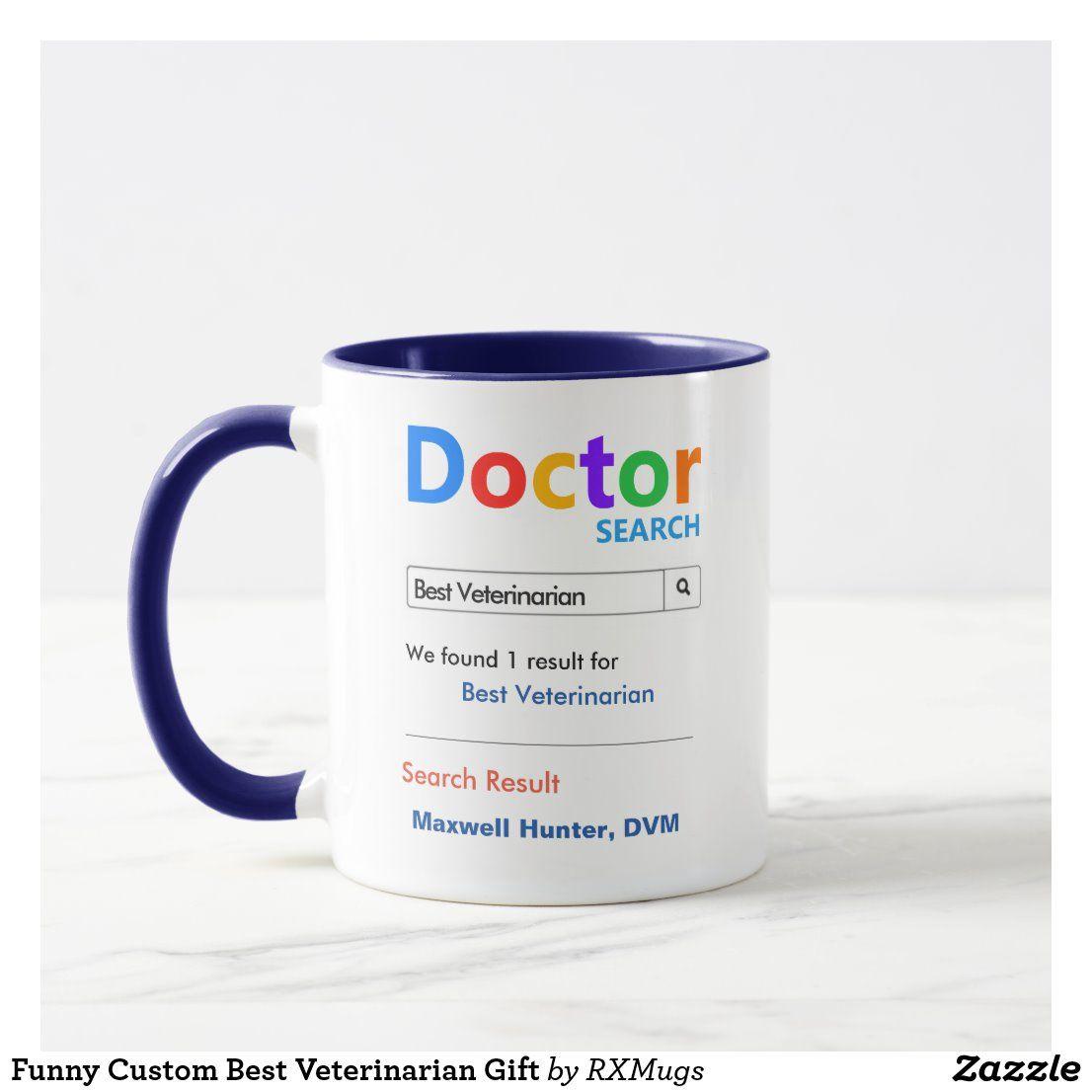 Funny custom best veterinarian gift mug