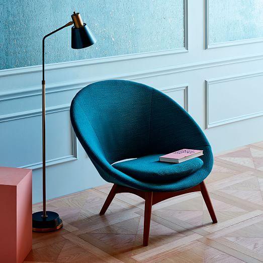 Luna Chair Twisted Slub Citrus Yellow