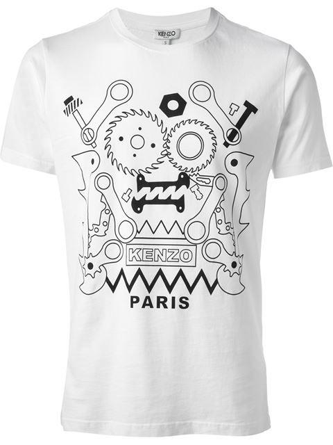 9460f8a83 Kenzo Logo Print T-shirt - Splash By The Beach - Farfetch.com ...