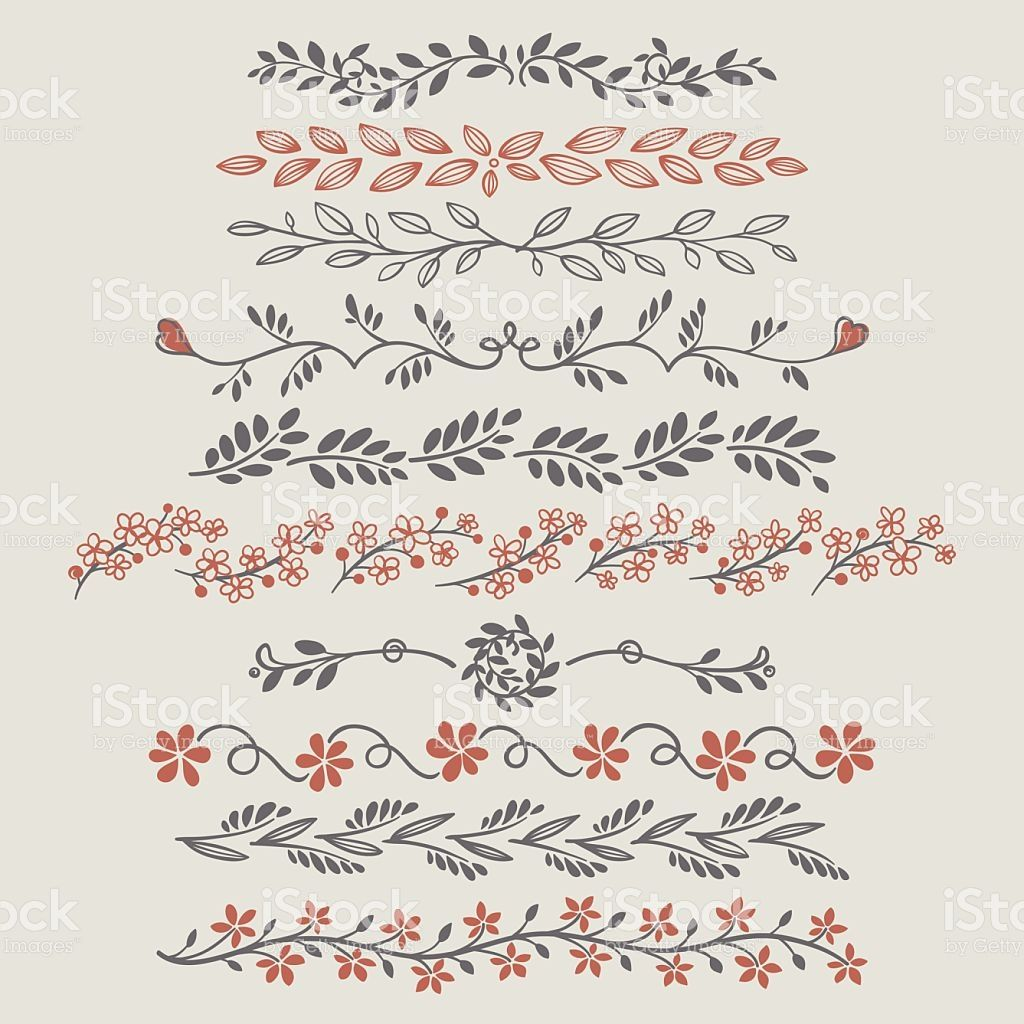 Fancy doodle floral borders and dividers.