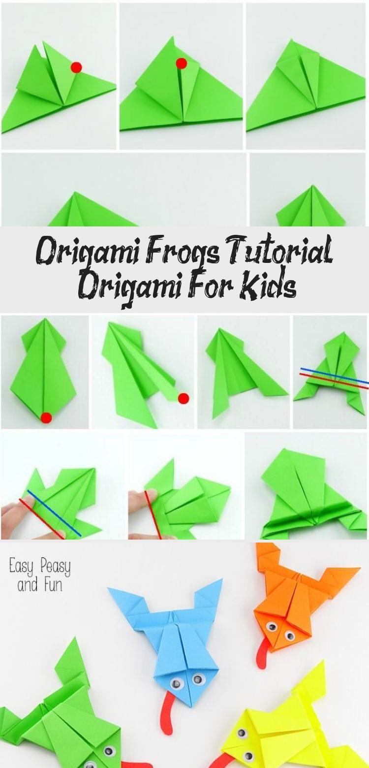Photo of Origami Frösche Tutorial – Origami für Kinder #origamiPattern #origamiTurtle #origam …