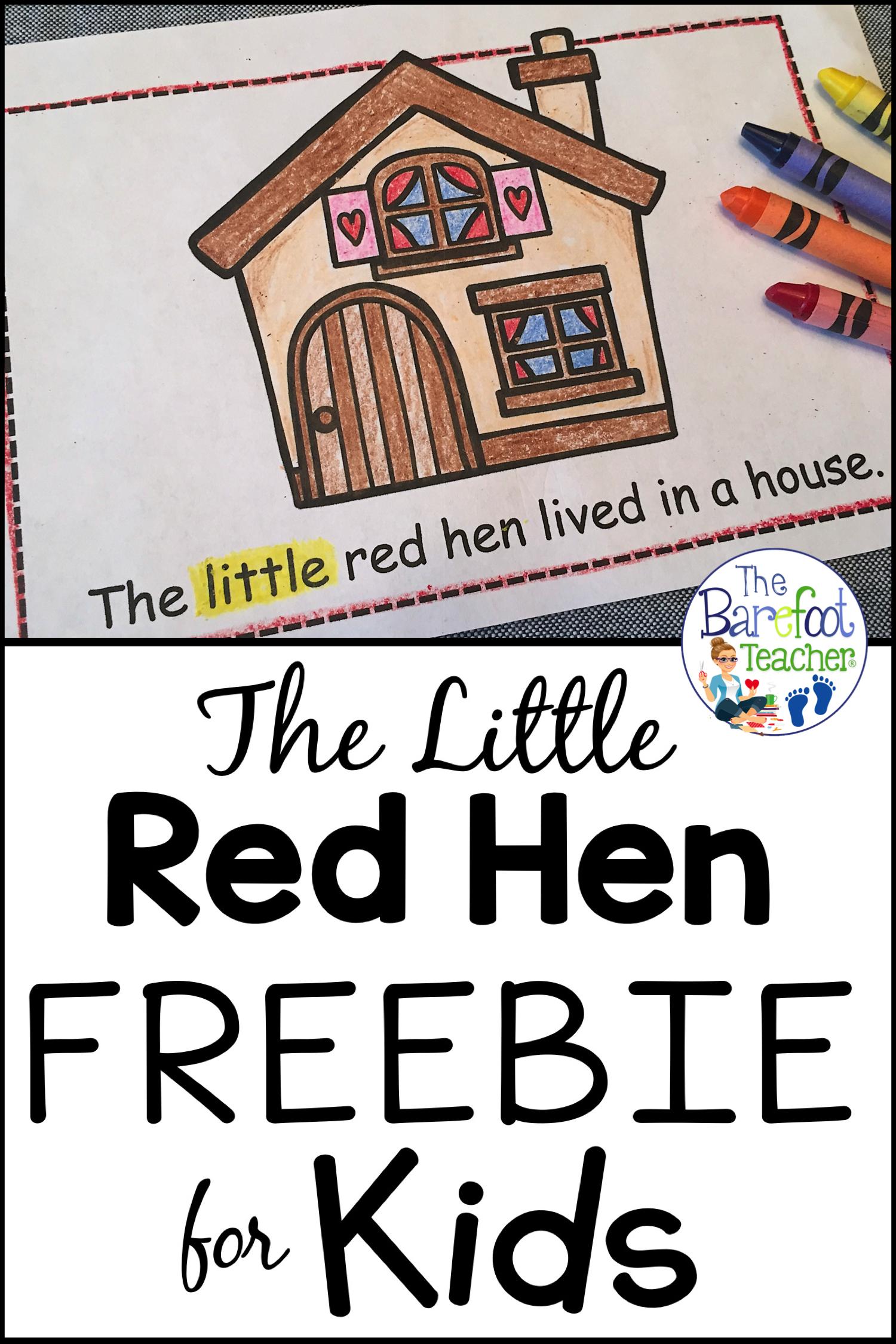 The Little Red Hen Emergent Reader Freebie In