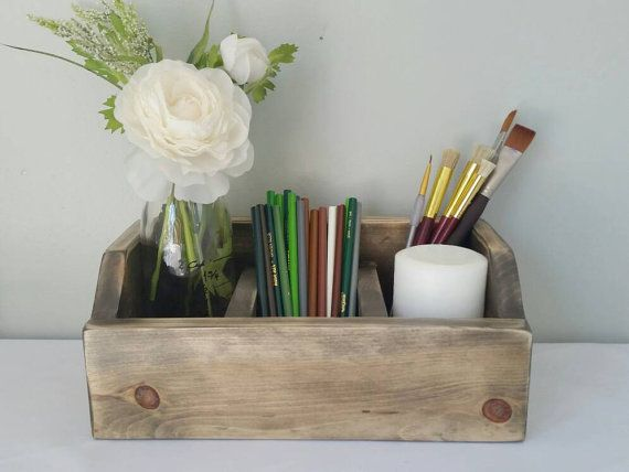 Check out this item in my Etsy shop https://www.etsy.com/listing/456322888/rustic-desk-organizer