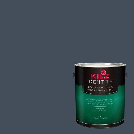 Kilz Identity Interior Exterior Stainblocking Paint Primer In One Rd100 02 Prussian Blue 1 Gallon Kilz Paint Primer Identity