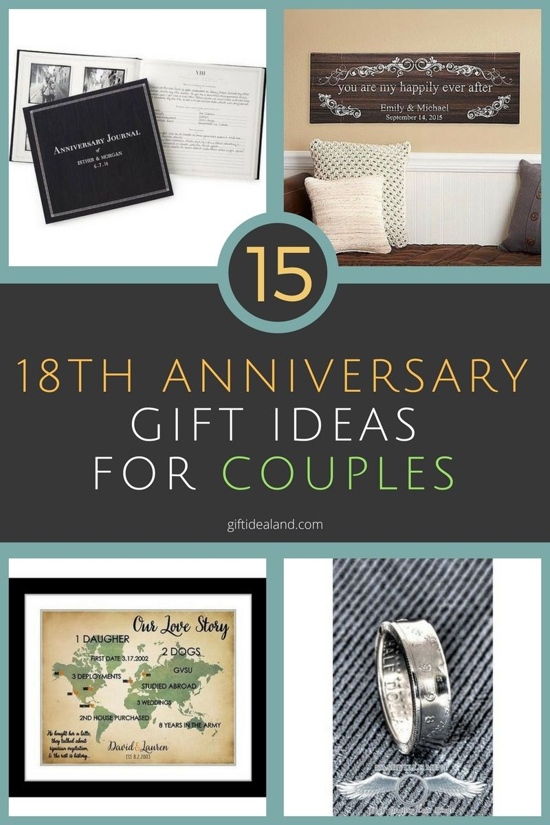 15 Amazing 18th Anniversary Gifts For Couples Him Her & 15 Great 18th Wedding Anniversary Gift Ideas For Couples ...