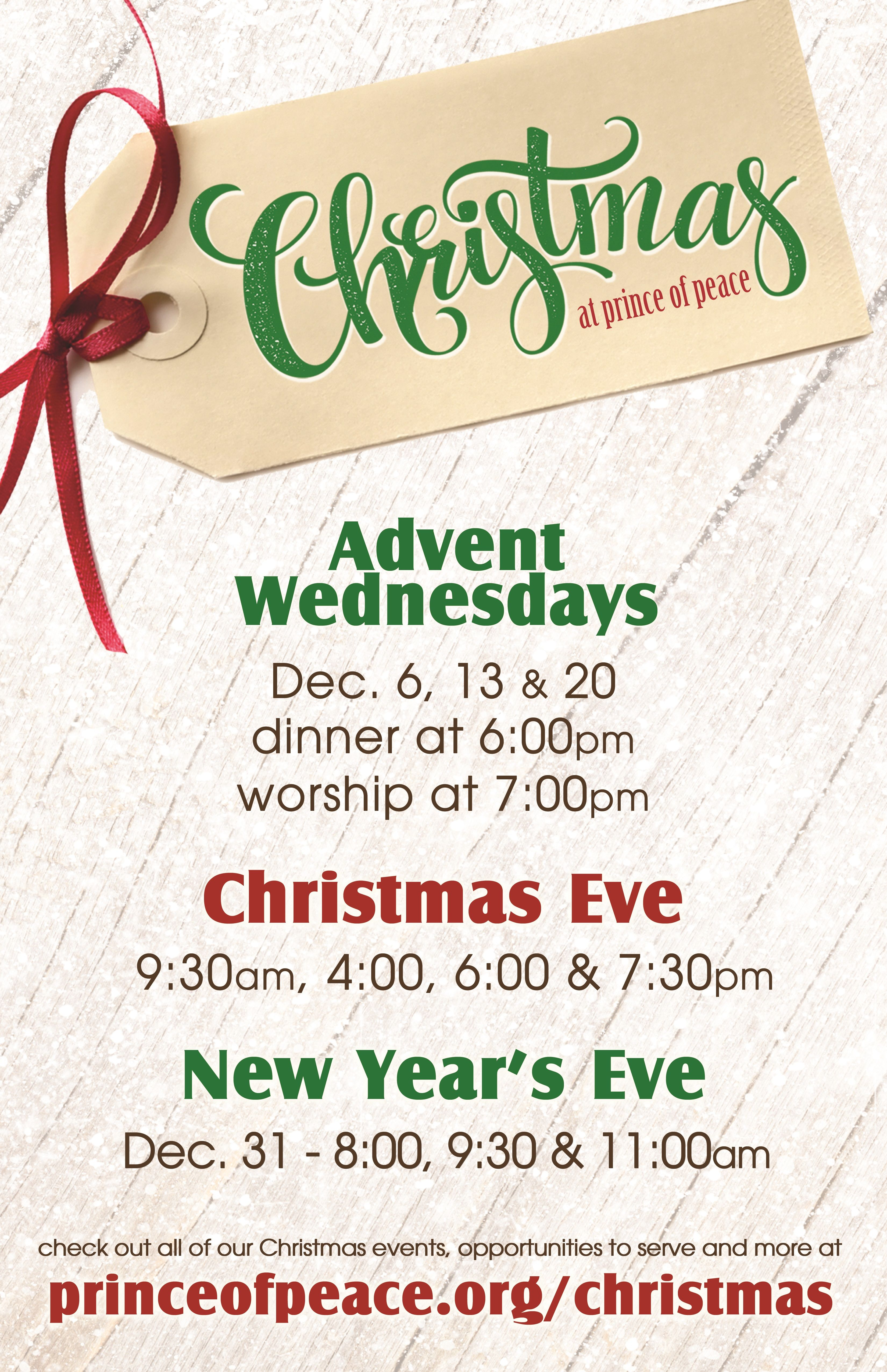 Advent Wednesdays: Dec. 6, 13, 20: Dinner at 6pm, Worship at 7pm ...