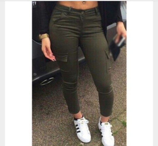 Olive Green Cargo Pants For Women | Gpant