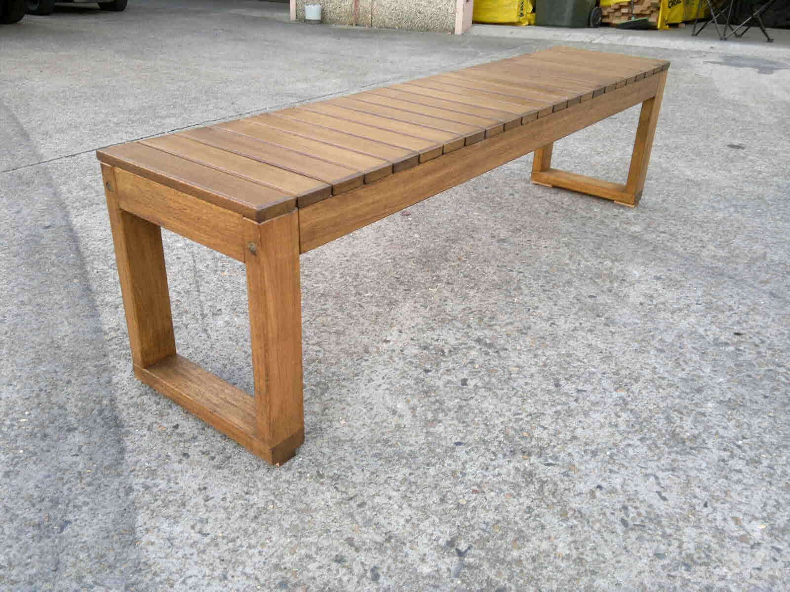 Image result for DIY bench seat Wood bench outdoor
