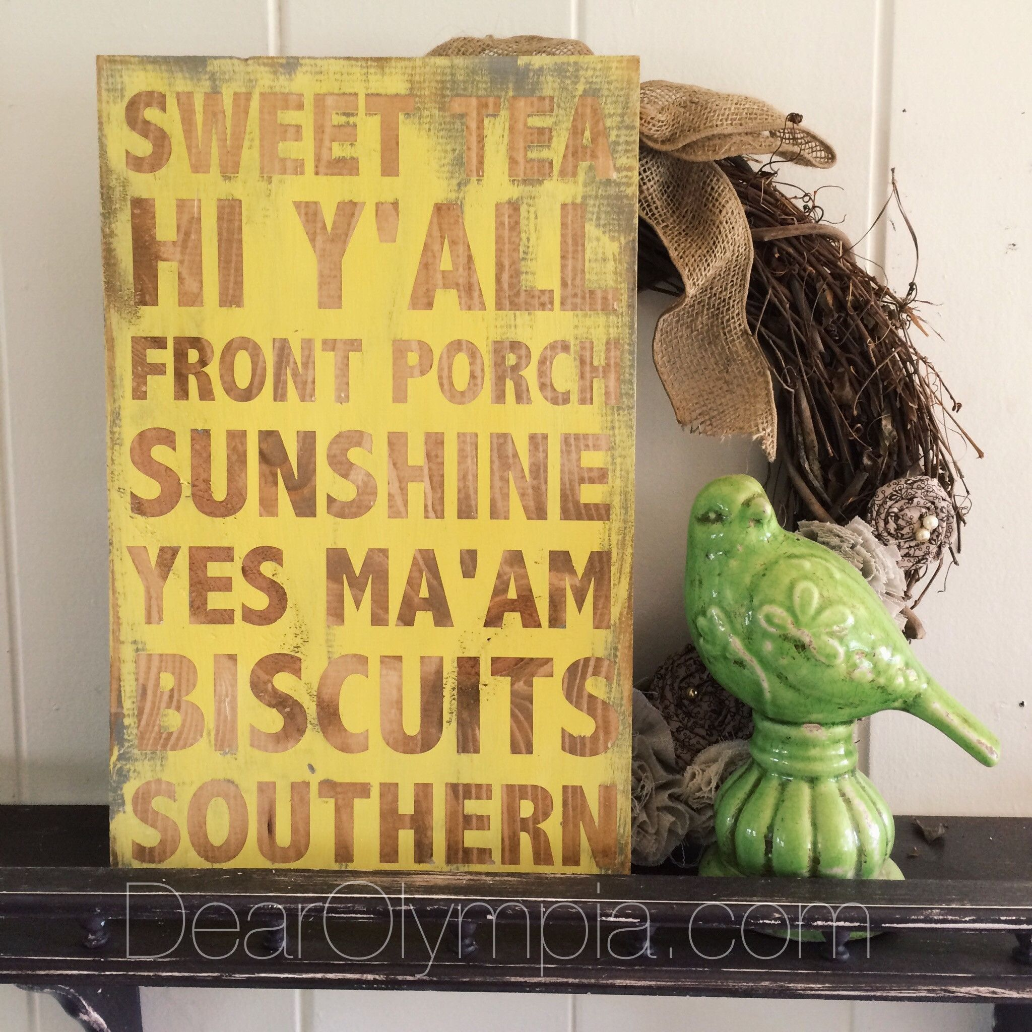 Southern Charm hand painted sign wall art from Dear Olympia / Sweet ...