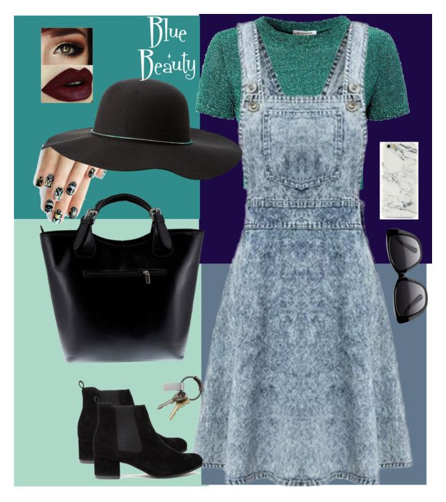 """""""Blue Beauty"""" by lrochelle4life on Polyvore featuring alfa.K, Glamorous, Massimo Castelli, Charlotte Russe, Elizabeth and James and CB2"""